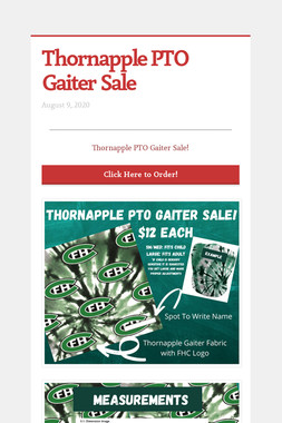 Thornapple PTO Gaiter Sale
