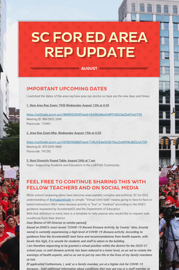 SC For Ed Area Rep Update