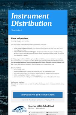 Instrument Distribution