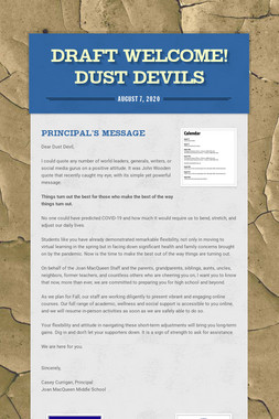 DRAFT Welcome! Dust Devils