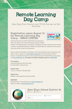 Remote Learning Day Camp