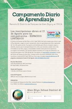 Campamento Diario de Aprendizaje