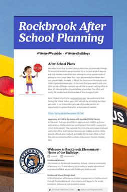 Rockbrook After School Planning