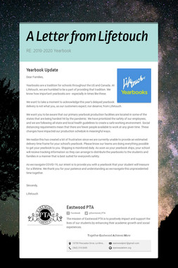 A Letter from Lifetouch