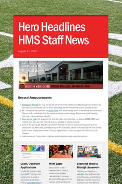 Hero Headlines HMS Staff News
