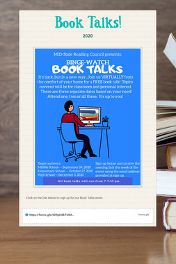 Book Talks!