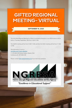 Gifted Regional Meeting- VIRTUAL