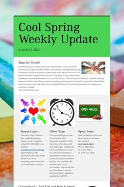 Cool Spring Weekly Update