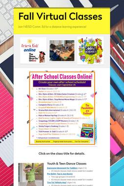 Fall Virtual Classes