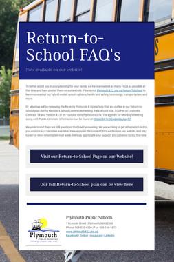 Return-to-School FAQ's