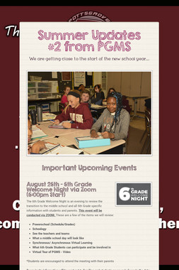 Summer Updates #2  from PGMS