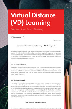 Virtual Distance (VD) Learning