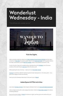 Wanderlust Wednesday - India