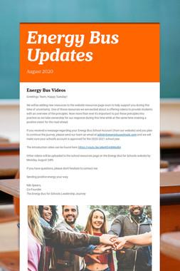 Energy Bus Updates