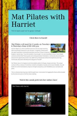Mat Pilates with Harriet