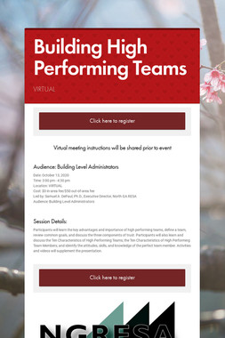 Building High Performing Teams
