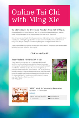 Online Tai Chi with Ming Xie