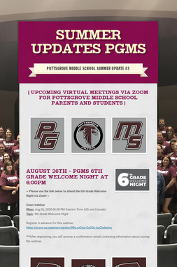 Summer Updates PGMS