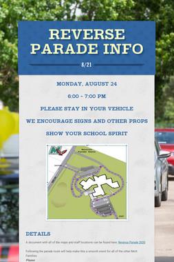 Reverse Parade Info