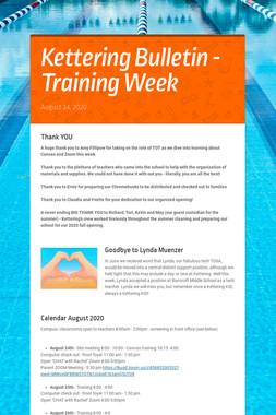 Kettering Bulletin - Training Week