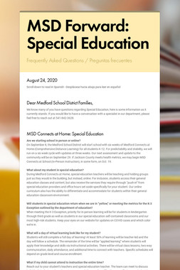 MSD Forward: Special Education