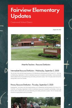 Fairview Elementary Updates
