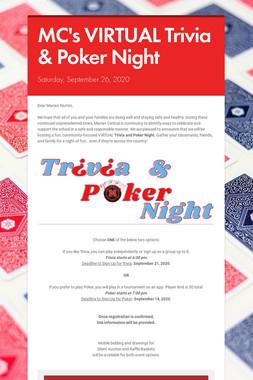 MC's VIRTUAL Trivia & Poker Night