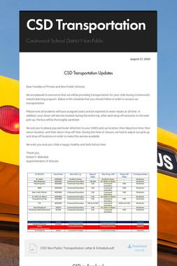 CSD Transportation