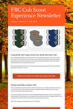 FRC Cub Scout Experience Newsletter