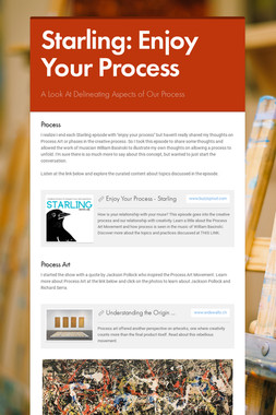 Starling: Enjoy Your Process