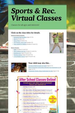 Sports & Rec. Virtual Classes