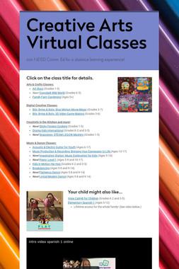 Creative Arts Virtual Classes