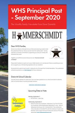 WHS Principal Post - September 2020