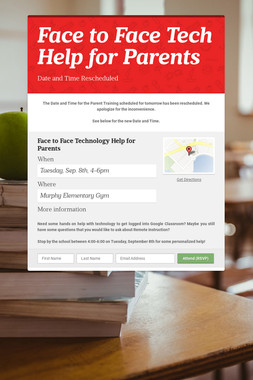 Face to Face Tech Help for Parents