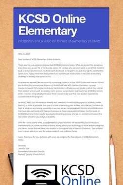 KCSD Online Elementary