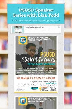 PSUSD Speaker Series with Lisa Todd