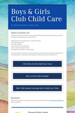 Boys & Girls Club Child Care