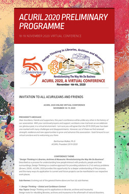 ACURIL 2020 PRELIMINARY PROGRAMME