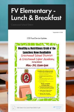 FV Elementary - Lunch & Breakfast