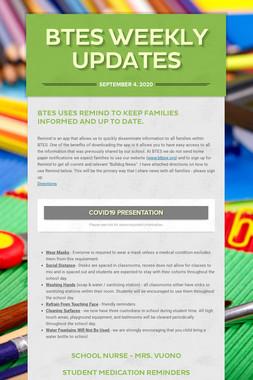 BTES Weekly Updates