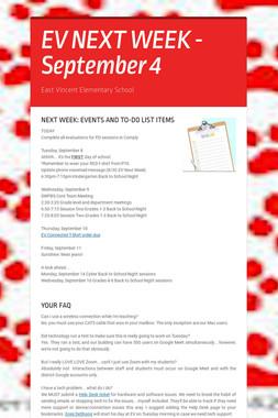 EV NEXT WEEK - September 4