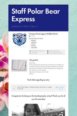Staff Polar Bear Express