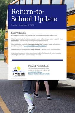 Return-to-School Update