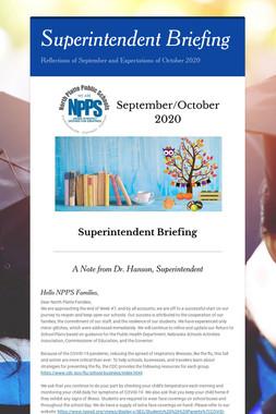 Superintendent Briefing