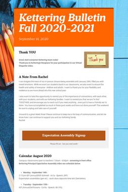 Kettering Bulletin  Fall 2020-2021
