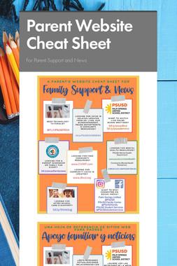 Parent Website Cheat Sheet