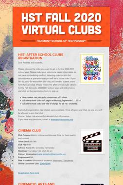 HST FALL 2020 VIRTUAL CLUBS