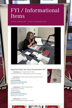 FYI / Informational Items