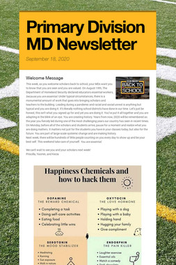 Primary Division MD Newsletter