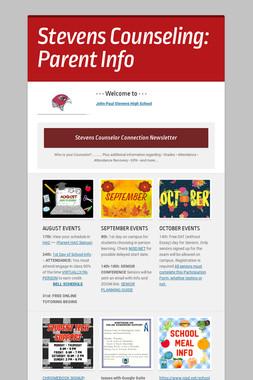 Stevens Counseling:  Parent Info